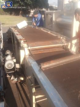 Transportador para galletas horno industrial continuo