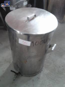 Tanque de acero inoxidable por 100 L