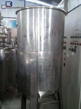 Tanque de acero inoxidable para 150 litros